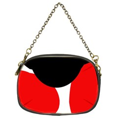 Red, black and white Chain Purses (Two Sides)
