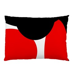 Red, black and white Pillow Case