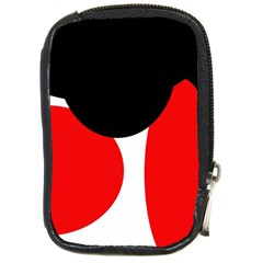 Red, black and white Compact Camera Cases