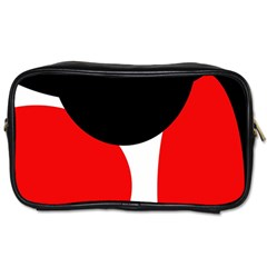 Red, black and white Toiletries Bags 2-Side