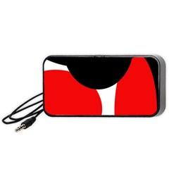 Red, black and white Portable Speaker (Black)