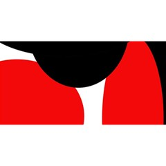 Red, black and white YOU ARE INVITED 3D Greeting Card (8x4)