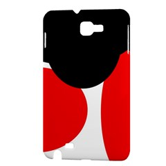 Red, black and white Samsung Galaxy Note 1 Hardshell Case