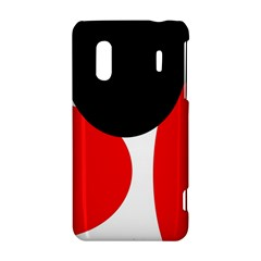 Red, black and white HTC Evo Design 4G/ Hero S Hardshell Case