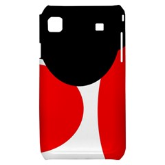 Red, black and white Samsung Galaxy S i9000 Hardshell Case