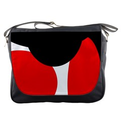 Red, black and white Messenger Bags