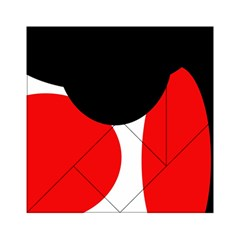 Red, black and white Acrylic Tangram Puzzle (6  x 6 )