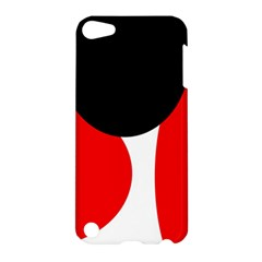 Red, black and white Apple iPod Touch 5 Hardshell Case
