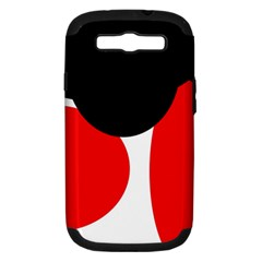 Red, black and white Samsung Galaxy S III Hardshell Case (PC+Silicone)