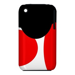 Red, black and white Apple iPhone 3G/3GS Hardshell Case (PC+Silicone)