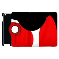 Red, black and white Apple iPad 3/4 Flip 360 Case