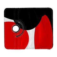 Red, black and white Samsung Galaxy S  III Flip 360 Case