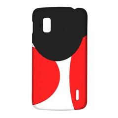 Red, black and white LG Nexus 4