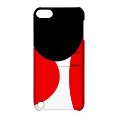 Red, black and white Apple iPod Touch 5 Hardshell Case with Stand