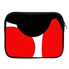 Red, black and white Apple iPad 2/3/4 Zipper Cases