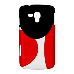 Red, black and white Samsung Galaxy Duos I8262 Hardshell Case