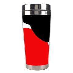 Red, black and white Stainless Steel Travel Tumblers