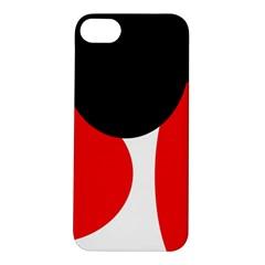 Red, black and white Apple iPhone 5S/ SE Hardshell Case