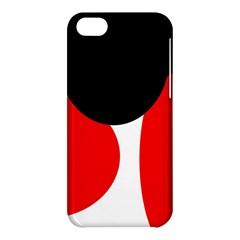 Red, black and white Apple iPhone 5C Hardshell Case