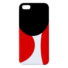 Red, black and white iPhone 5S/ SE Premium Hardshell Case