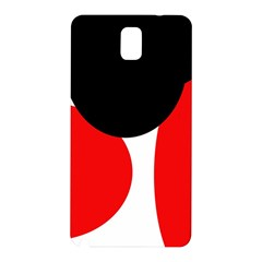 Red, black and white Samsung Galaxy Note 3 N9005 Hardshell Back Case