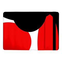 Red, black and white Samsung Galaxy Tab Pro 10.1  Flip Case
