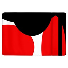 Red, black and white iPad Air Flip