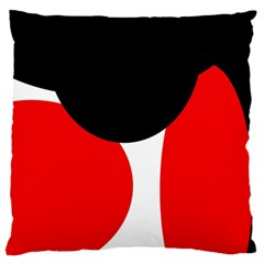 Red, black and white Large Flano Cushion Case (Two Sides)