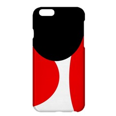 Red, black and white Apple iPhone 6 Plus/6S Plus Hardshell Case
