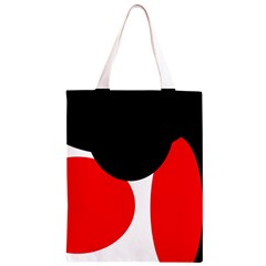 Red, black and white Classic Light Tote Bag