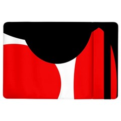 Red, black and white iPad Air 2 Flip