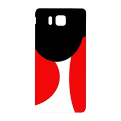 Red, black and white Samsung Galaxy Alpha Hardshell Back Case