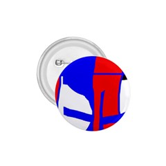 Blue, red, white design  1.75  Buttons