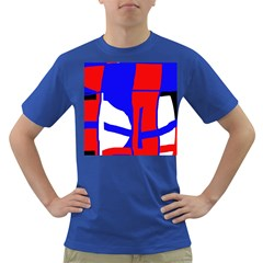 Blue, red, white design  Dark T-Shirt