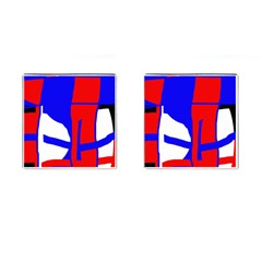 Blue, red, white design  Cufflinks (Square)