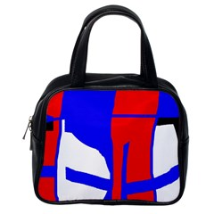 Blue, red, white design  Classic Handbags (One Side)