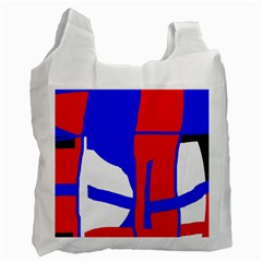Blue, red, white design  Recycle Bag (Two Side)