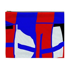 Blue, red, white design  Cosmetic Bag (XL)