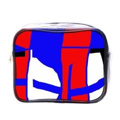 Blue, red, white design  Mini Toiletries Bags