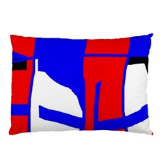 Blue, red, white design  Pillow Case (Two Sides)