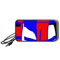 Blue, red, white design  Portable Speaker (Black)
