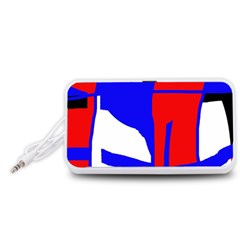 Blue, red, white design  Portable Speaker (White)