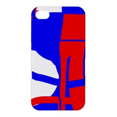 Blue, red, white design  Apple iPhone 4/4S Hardshell Case