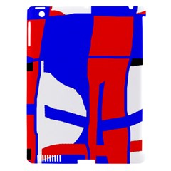 Blue, red, white design  Apple iPad 3/4 Hardshell Case (Compatible with Smart Cover)