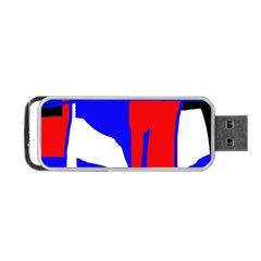 Blue, red, white design  Portable USB Flash (One Side)