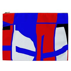 Blue, red, white design  Cosmetic Bag (XXL)