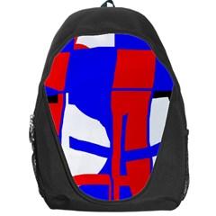Blue, red, white design  Backpack Bag