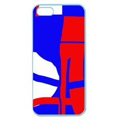 Blue, red, white design  Apple Seamless iPhone 5 Case (Color)