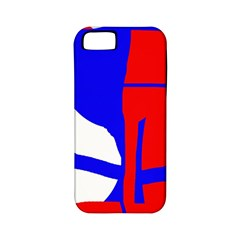 Blue, red, white design  Apple iPhone 5 Classic Hardshell Case (PC+Silicone)