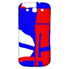Blue, red, white design  Samsung Galaxy S3 S III Classic Hardshell Back Case